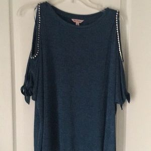 XL juicy couture short sleeved bling blouse